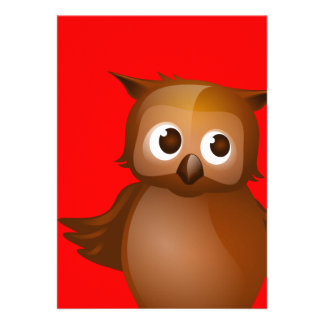 Fondo Editable - búho lindo de Brown Comunicado Personalizado