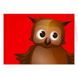 Fondo Editable - búho lindo de Brown Tarjetón
