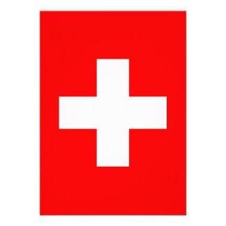 Fondo Editable la bandera de Suiza Comunicados Personales