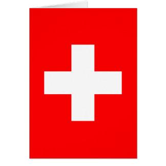 Fondo Editable, la bandera de Suiza Tarjeta De Felicitación