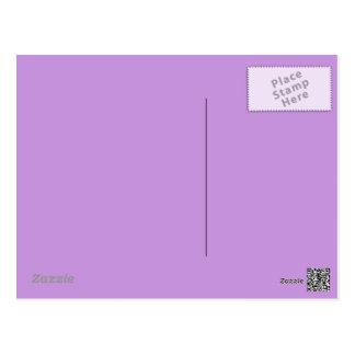 Fondo en colores pastel de la lavanda en la postal