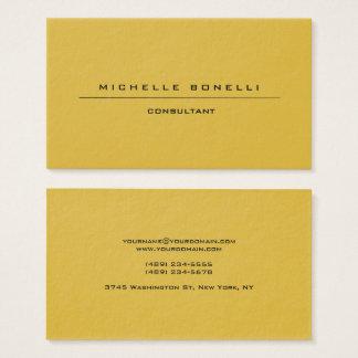 Fondo especial único llano grande del color oro tarjeta de negocios