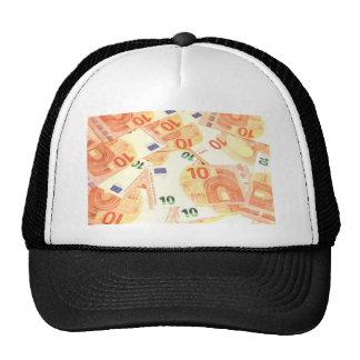Fondo euro gorros bordados