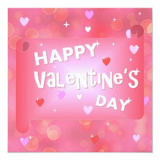 Fondo feliz del el día de San Valentín Invitación 13,3 Cm X 13,3cm