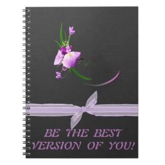 Fondo Flor-Negro púrpura elegante bonito Cuaderno