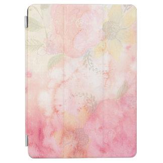 Fondo floral rosado de la acuarela cubierta de iPad air