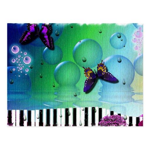 fondo fresco de los coulours del piano y de la nat tarjeta postal