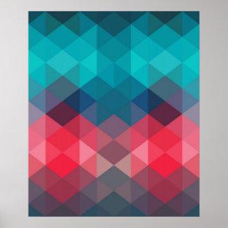 Fondo geométrico del espectro póster