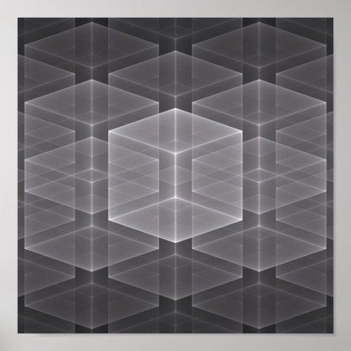 Fondo geométrico del fractal poster