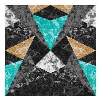 Fondo geométrico G430 del mármol de la impresión Arte Fotográfico