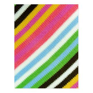 Fondo hecho punto colorido postal