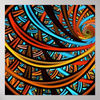Fondo juliano del fractal de los anillos poster