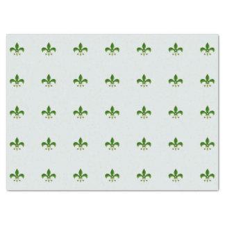 fondo ligero con la flor de lis verde papel de seda