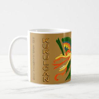 FONDO MAYA DEL ORO DEL ALCOHOL KUKULCAN- TAZA DE CAFÉ