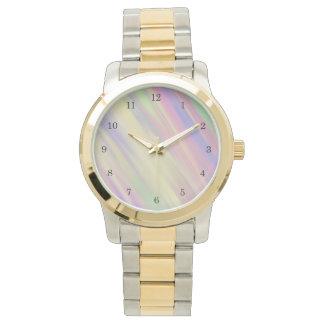 Fondo mezclado multicolor del estilo del teñido reloj de pulsera