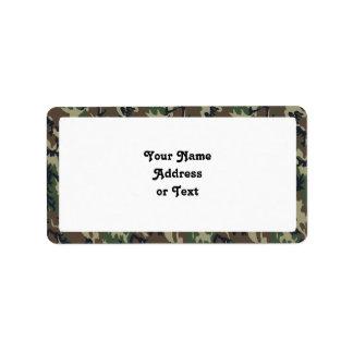 Fondo militar del camuflaje del bosque etiqueta de dirección