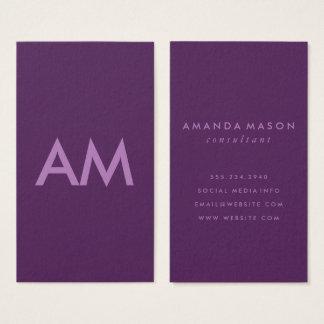 Fondo minimalista de la violeta de la lavanda del tarjeta de negocios