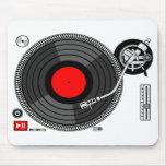 Fondo Mousepad de la placa giratoria de DJ Alfombrilla De Raton