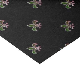Fondo negro con la flor de lis papel de seda