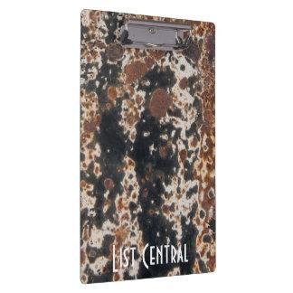 Fondo negro oxidado del Grunge del metal Carpeta De Pinza