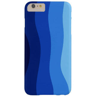 Fondo ondulado azul funda barely there iPhone 6 plus