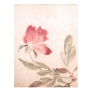 Fondo oriental de la flor postal