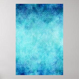 Fondo personalizado acuarela azul brillante póster