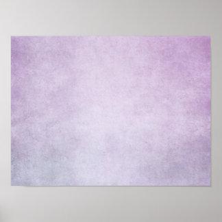 Fondo personalizado acuarela púrpura de la lavanda póster