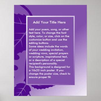Fondo púrpura de encargo para el poster póster