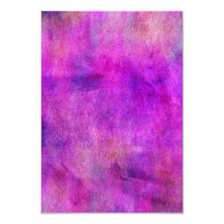 Fondo púrpura violeta brillante de la acuarela invitación 8,9 x 12,7 cm