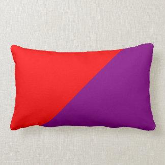 Fondo púrpura y rojo de color sólido cojín lumbar