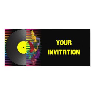 Fondo retro del fiesta invitaciones personalizada