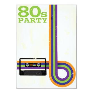 Fondo retro del fiesta invitación 12,7 x 17,8 cm