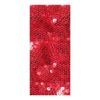 Fondo rojo de la imagen de la lentejuela lona personalizada