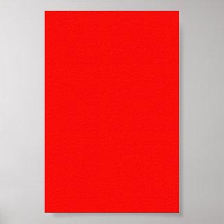 Fondo rojo de neón brillante en un poster