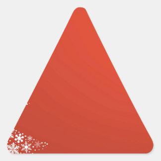 Fondo rojo del navidad pegatina triangular