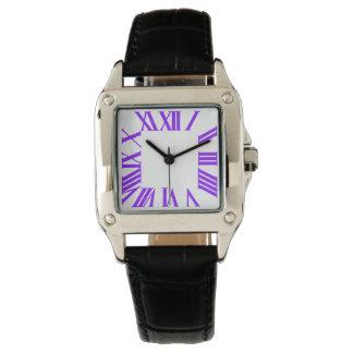 Fondo romano violeta de PixDezines Numeros/DIY Reloj