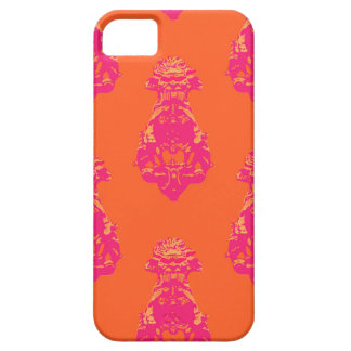 Fondo rosado/anaranjado del vintage del color funda para iPhone SE/5/5s