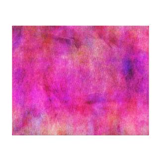 Fondo rosado caliente de la acuarela impresiones de lienzo