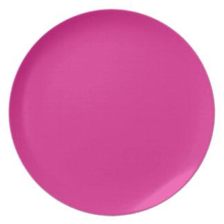Fondo rosado de Barbie Platos Para Fiestas