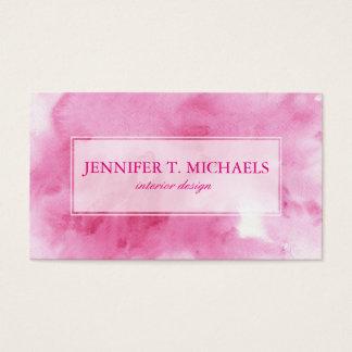 fondo rosado de la acuarela para su tarjeta de negocios