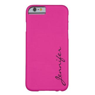Fondo rosado del color de Barbie Funda De iPhone 6 Barely There