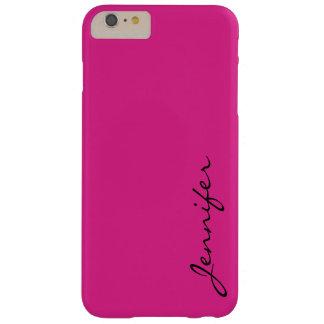 Fondo rosado del color de Barbie Funda De iPhone 6 Plus Barely There