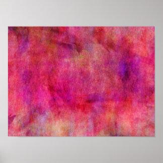 Fondo rosado rojo brillante de la acuarela póster