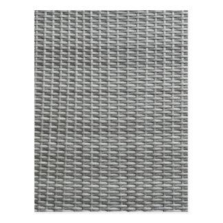 Fondo tejido gris de las correas postal