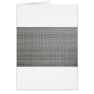 Fondo tejido gris de las correas tarjeta de felicitación