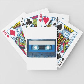 Fondo transparente del casete de cinta baraja de cartas bicycle
