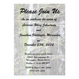 fondo verde de la planta de las ramitas del musgo invitacion personalizada