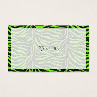 Fondo verde de neón de la textura de la piel de la tarjeta de visita
