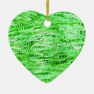 Fondo verde del Grunge Adorno Navideño De Cerámica En Forma De Corazón